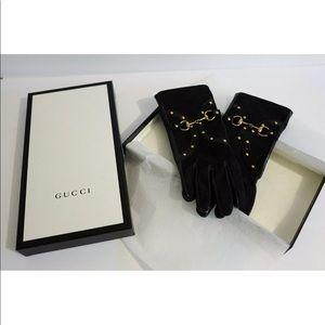 Gucci Accessories - GUCCI GG CANVAS HORSE BIT GLOVES Tom Ford Era